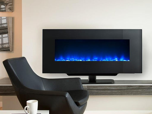 "SimpliFire Modern Wall-Mount 38"" Electric Fireplace SF-WMS38-BK"