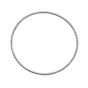 Sterling Silver 65mm Thin Polished Ball Bangle