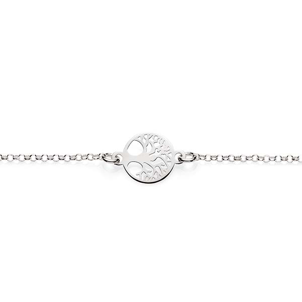 Sterling Silver Belcher Tree Of Life Bracelet