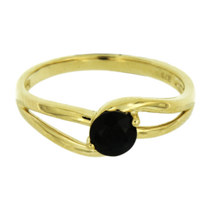Gold Claw-Set Sapphire Split Shank Ring