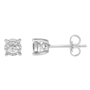 9ct White Gold Diamond 0.20ct Earrings Studs