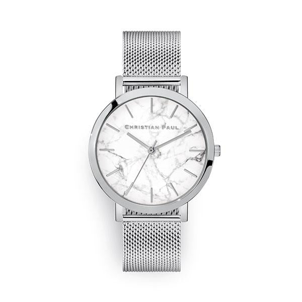 Christian Paul Hayman Marble Mesh 43mm Watch Silver