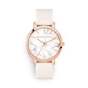 Christian Paul White & Rose Gold Bondi Marble 43mm Watch