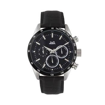 Jag Alain Black Leather Watch