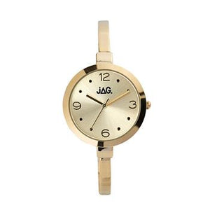 Jag Daphne Champagne Dial Yellow Gold Bracelet Watch