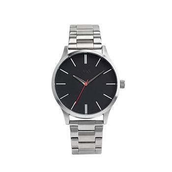 Jag Malcom Black Dial Watch in Silver Case
