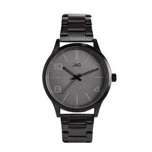 Jag Mitchell Grey Dial, Black Leather Watch