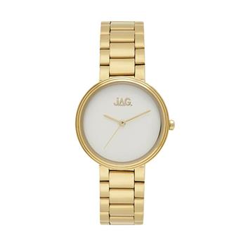 Jag Natalie White Matte Dial/Yellow Gold Bracelet Watch