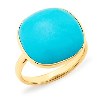 MMJ - Turquoise Bezel Set Dress Ring