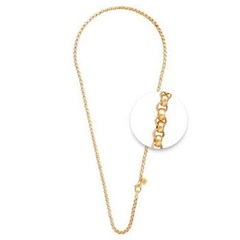 Nikki Lissoni Gold Plated 3mm X 70cm Necklace