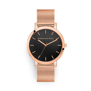 Christian Paul Rose Raw Mesh 43mm Watch