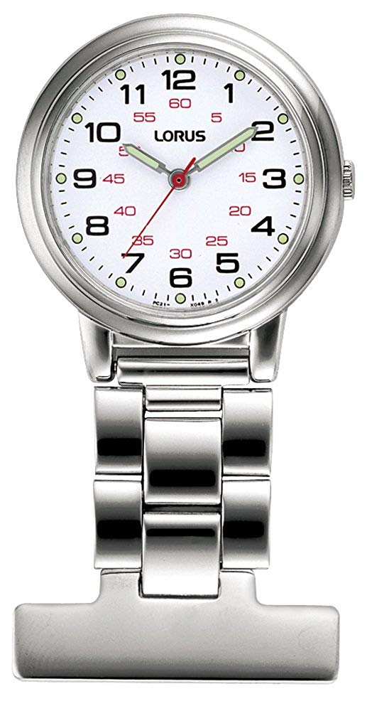 Stainless Steel Nurses Lorus Fob Watch