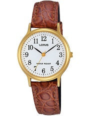 Leather Strap Ladies Lorus Watch