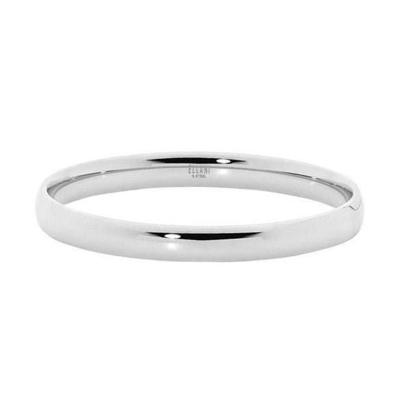 Ellani Stainless Steel 8mm wide Bangle