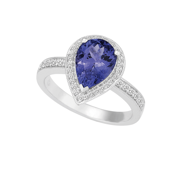 18ct Gold Pear Tanzanite Ring