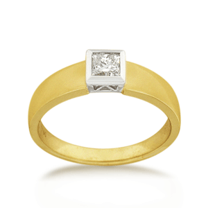18ct Princess-cut 0.40ct Diamond Solitaire