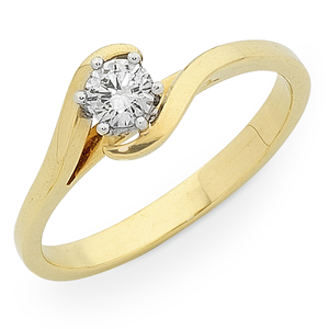 9ct Gold 1/4ct TDW Diamond Soliaire