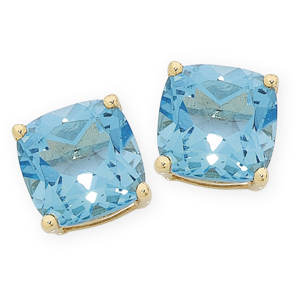 9ct Gold Blue Topaz Earrings