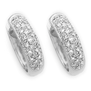 9ct Gold Pave Huggies