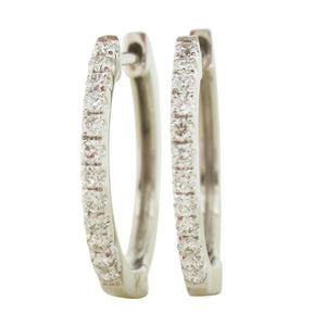 9ct white gold diamond hoops