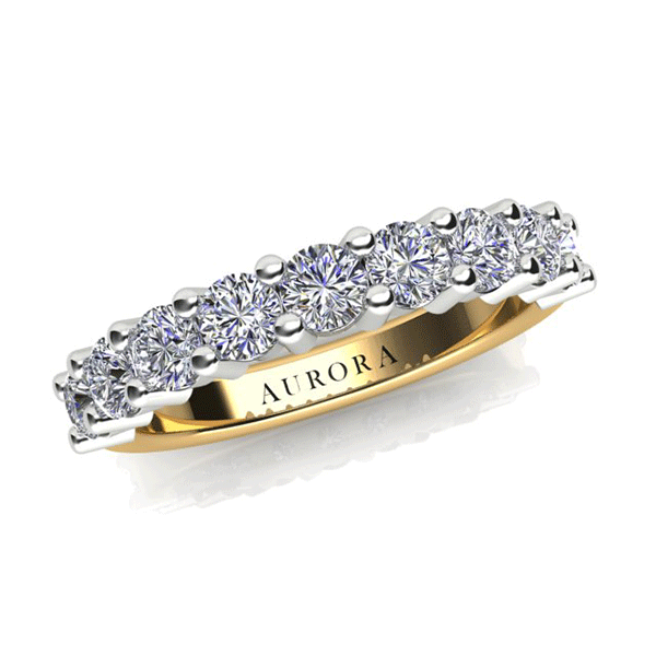 Aurora 18ct Gold HI P1 - 1.04ct TDW Diamond Ring