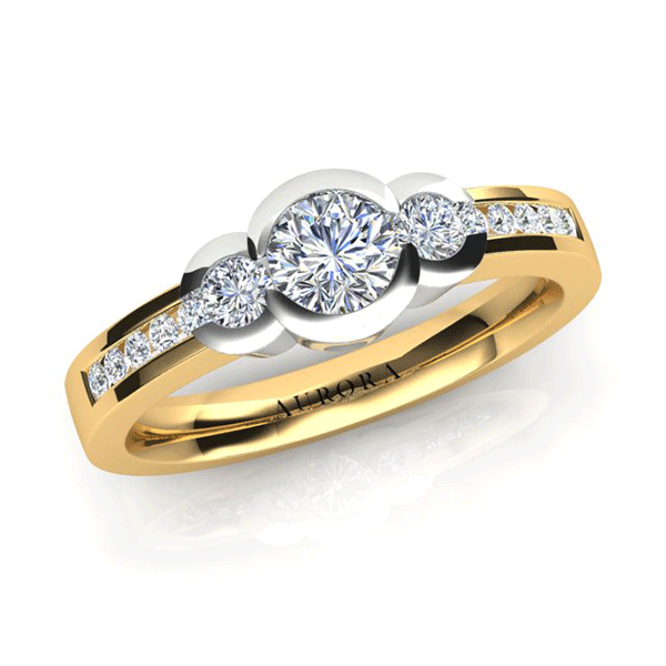 Aurora 18ct Gold G SI1 - 0.70ct TDW Diamond Ring