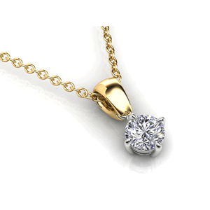 Aurora 18ct Gold HI P1 - 0.32ct Diamond Solitaire Pendant