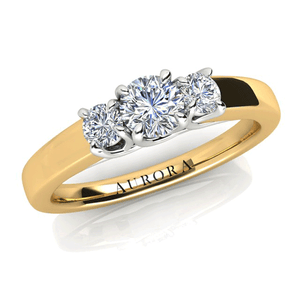 Aurora 18ct Gold HI P1 - 0.50ct TDW Diamond Ring