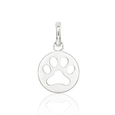 CANDID SS 15mm charm round paw cut out