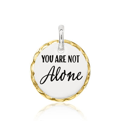 CANDID SS 2TY 18mm round scalloped frame 'you are not alone'