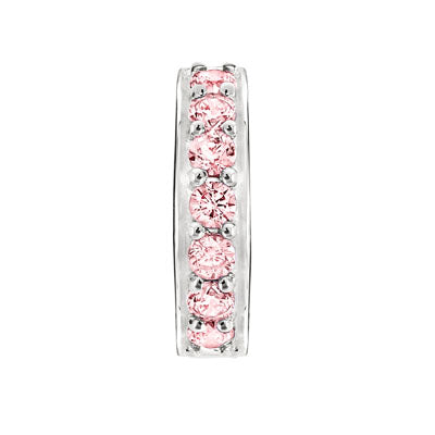 CANDID SS stopper with pink cubic zirconia