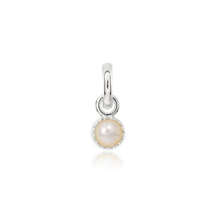 CANDID Sterling silver pearl June birthstone charm