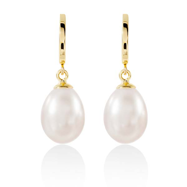 9ct Gold Pearl Drop Studs