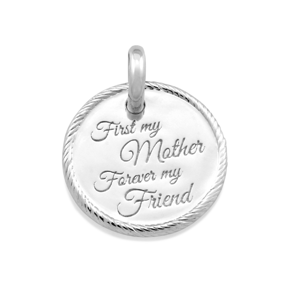 Candid 'First My Mother Forever My Friend' Pendant
