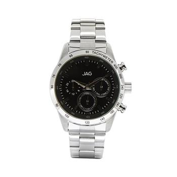 Jag Alain Black Dial, Silver Watch
