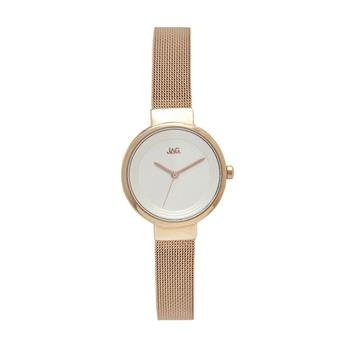 Jag Chloe Rose Gold Mesh Watch
