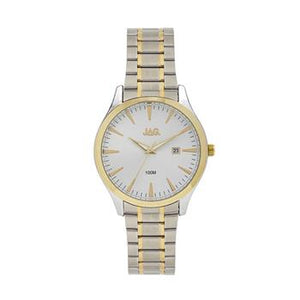Jag Dan II Two Tone Silver & Yellow Gold Watch