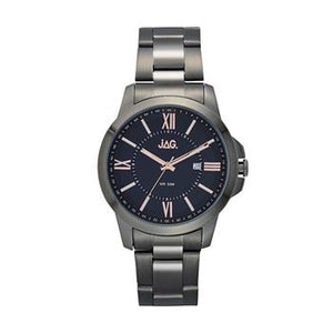 Jag Xavier Black Dial, Gun Metal Watch