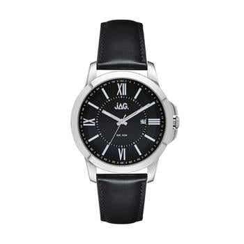 Jag Xavier Black Dial, Silver Watch