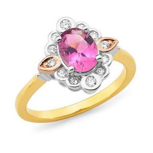 MMJ - Pink Tourmaline & Diamond Dress Ring