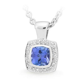 MMJ - Tanzanite & Diamond Pendant