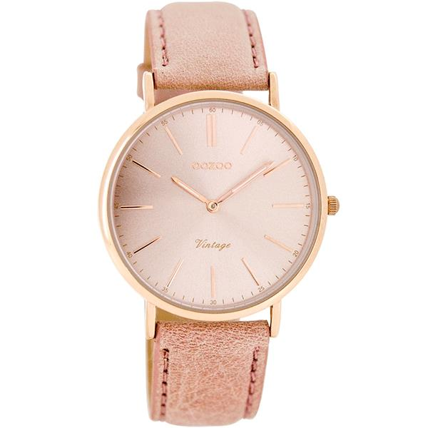 OOZOO Watch 36mm rose gold case / rose gold on  pink