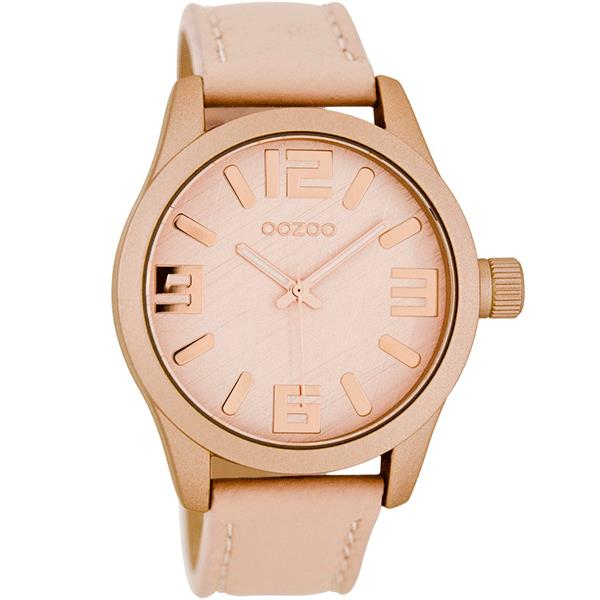 OOZOO Watch 41mm matt blush pink/rose gld+blush pink/blush pink