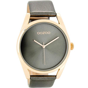 OOZOO Watch 43mm rose gld/rose gld+metallic drk grey/metallic drk grey