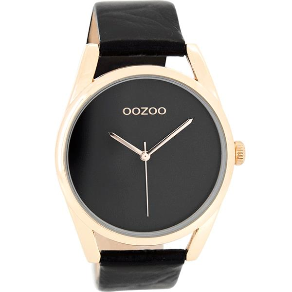 OOZOO Watch 43mm rose gold case / rose gold on black / black