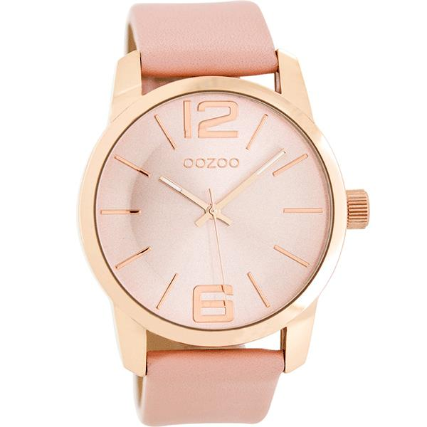 OOZOO Watch 43mm rose gold/ rose gold on brushed pink / pink