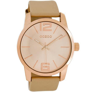 OOZOO Watch 43mm rose gold/ rose gold on brushed sand / sand