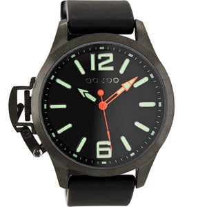 OOZOO Watch 46mm matt blk(10ATM)/diver's green on blk/blk rubber