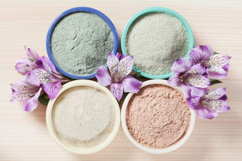 Photo of different kinds of clay in bowls different-kinds-clay-mask