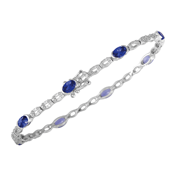 18ct Gold Tanzanite Bracelet